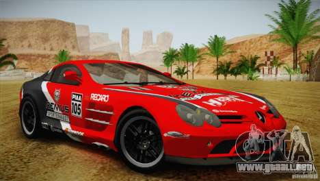 Mercedes SLR McLaren 722 Edition Final para vista lateral GTA San Andreas