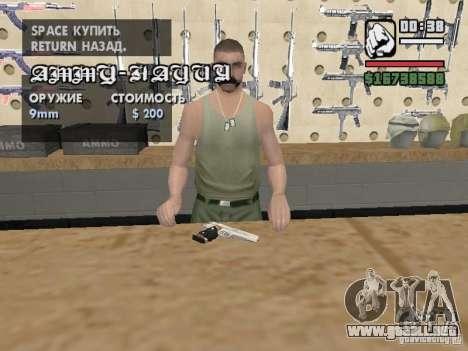 Silverballer de Hitman para GTA San Andreas segunda pantalla