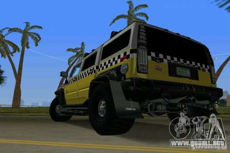 Hummer H2 SUV Taxi para GTA Vice City left