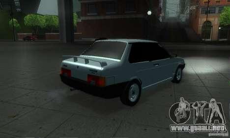 VAZ 21099 Coupe para GTA San Andreas vista hacia atrás