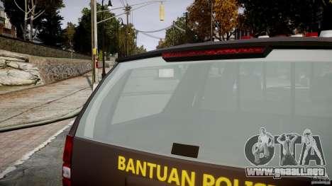 Chevrolet Tahoe Indonesia Police para GTA 4 vista desde abajo