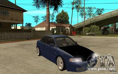Audi A4 para GTA San Andreas vista hacia atrás