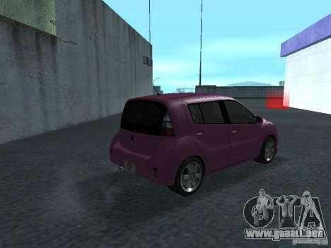 Toyota WiLL Cypha para la visión correcta GTA San Andreas
