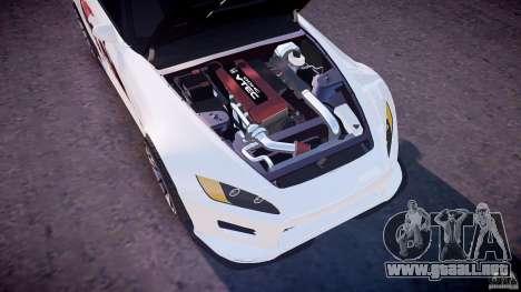 Honda S2000 Tuning 2002 piel 3 para recocido para GTA 4 vista desde abajo