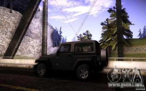 Jeep Wrangler Rubicon 2012 para la vista superior GTA San Andreas