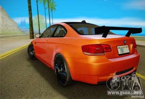 BMW M3 GT-S Final para GTA San Andreas vista hacia atrás