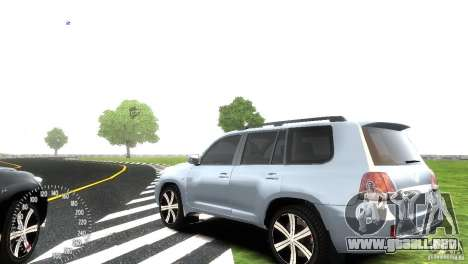 Toyota Land Cruiser 200 RESTALE para GTA 4 Vista posterior izquierda