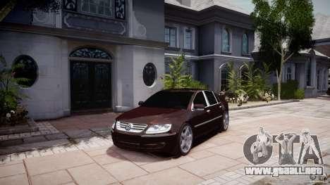 Volkswagen Phaeton W12 Long para GTA 4 visión correcta