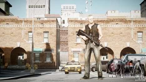 Merle Dixon para GTA 4 adelante de pantalla