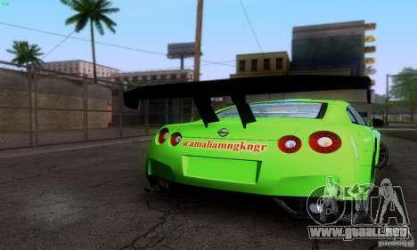 Nissan GTR R35 Tuneable para el motor de GTA San Andreas