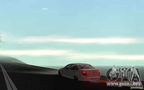 Lada Granta Stock para GTA San Andreas vista posterior izquierda