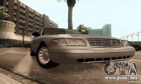 Ford Crown Victoria 2003 para la visión correcta GTA San Andreas