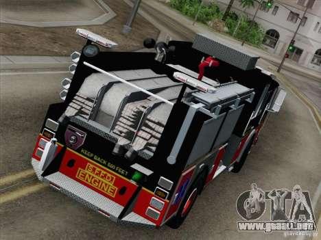 Seagrave Marauder Engine SFFD para visión interna GTA San Andreas