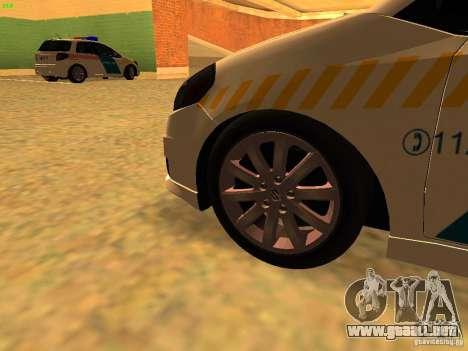 Suzuki SX-4 Hungary Police para la visión correcta GTA San Andreas