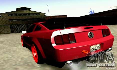 Shelby GT500 KR para GTA San Andreas left