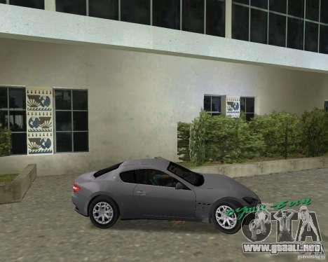 Maserati  GranTurismo para GTA Vice City visión correcta