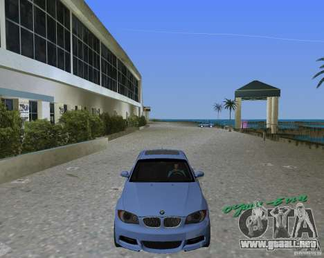 BMW 135i para GTA Vice City left