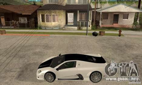 SSC Ultimate Aero FM3 version para GTA San Andreas left