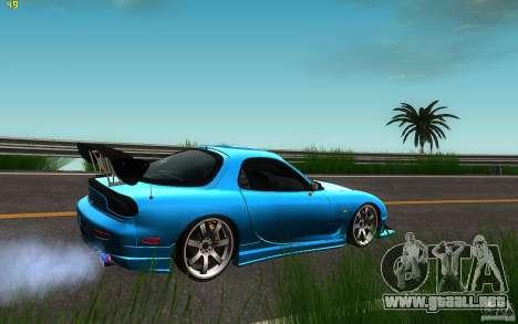 Mazda Rx7 C-West para GTA San Andreas vista posterior izquierda