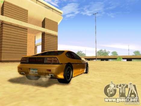 Pontiac Fiero V8 para GTA San Andreas left