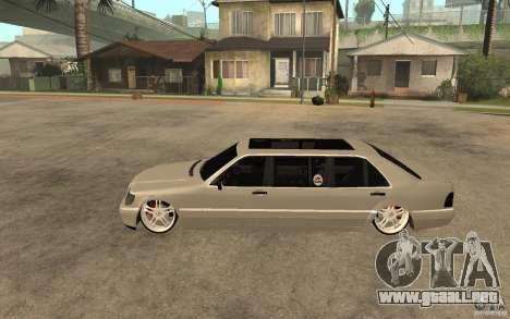Mercedes-Benz S600 V12 W140 1998 VIP para GTA San Andreas left