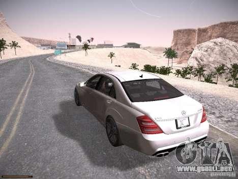 Mercedes Benz S65 AMG 2012 para GTA San Andreas vista posterior izquierda