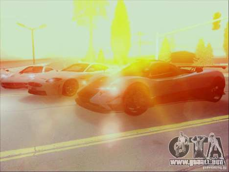 Pagani Zonda Cinque para visión interna GTA San Andreas