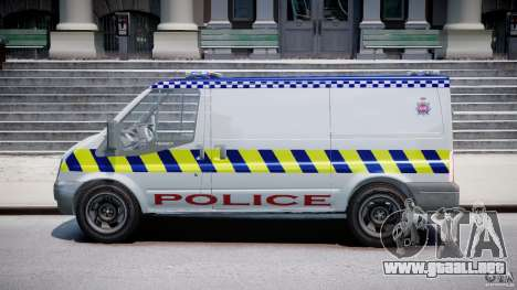 Ford Transit Polish Police [ELS] para GTA 4 left