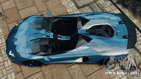 Lamborghini Aventador J 2012 v1.2 para GTA 4 visión correcta