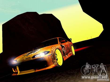 Nissan Silvia S15 Juiced2 HIN para vista lateral GTA San Andreas