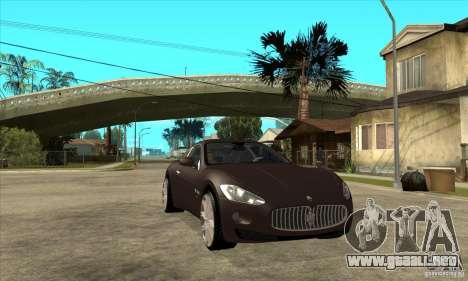 Maserati Gran Turismo para GTA San Andreas vista hacia atrás