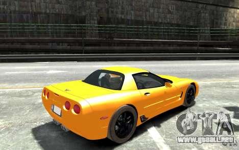 Chevrolet Corvette C5 2005 para GTA 4 visión correcta