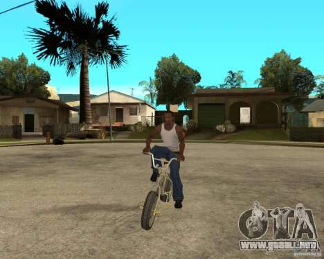 WideWheel-BMX 1 LOUIS VUITTON Version para GTA San Andreas vista hacia atrás