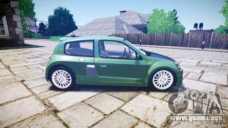Renault Clio V6 para GTA 4 vista lateral