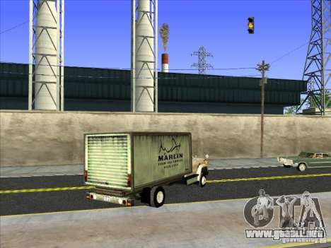 Yankee basado en GMC para GTA San Andreas vista posterior izquierda