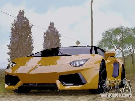 Lamborghini Aventador LP700-4 Vossen para GTA San Andreas vista posterior izquierda