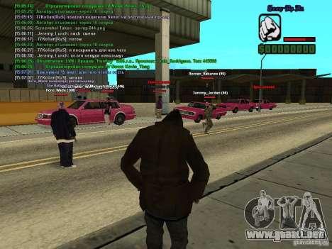 SA:MP 0.3d para GTA San Andreas sexta pantalla