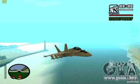 F-18 Super Hornet para la visión correcta GTA San Andreas