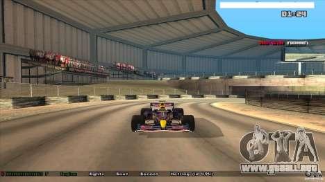 Ferrari F1 RedBull para GTA San Andreas vista posterior izquierda