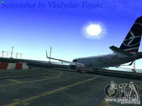 Embraer ERJ 190 LOT Polish Airlines para vista lateral GTA San Andreas