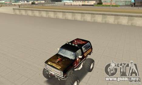 Chevrolet Blazer K5 Monster Skin 4 para GTA San Andreas left