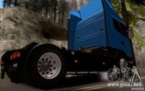 Scania R500 para GTA San Andreas vista posterior izquierda