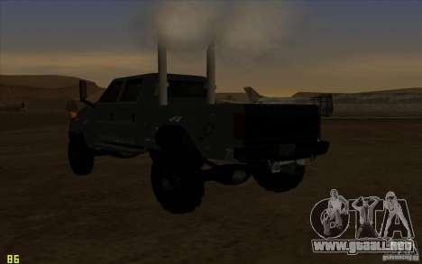 GMC Topkick Ironhide TF3 para visión interna GTA San Andreas
