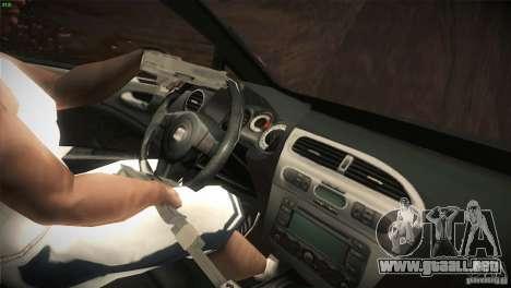 Seat Leon Cupra para vista inferior GTA San Andreas