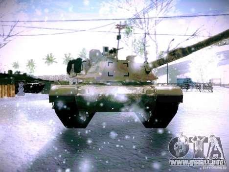 M1A2 Abrams de Battlefield 3 para GTA San Andreas vista hacia atrás