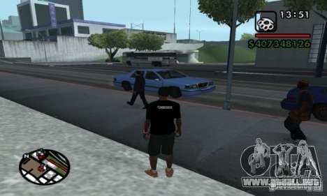 T-shirt codered para GTA San Andreas segunda pantalla