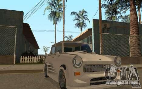 Trabant 601S Tuning para GTA San Andreas vista hacia atrás