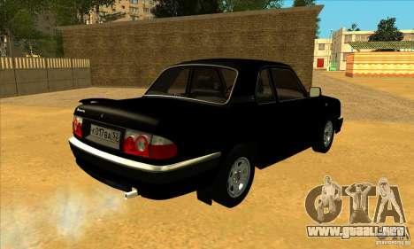 Volga GAZ 3110 sedán para GTA San Andreas vista posterior izquierda