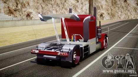 Peterbilt Sport Truck Custom para GTA 4 Vista posterior izquierda
