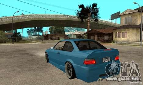 BMW M3 HAMMAN para GTA San Andreas vista posterior izquierda